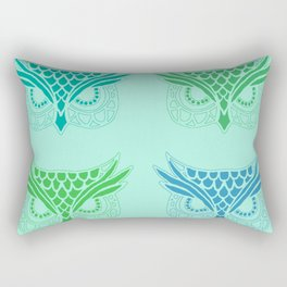 Owl Tribe II Rectangular Pillow