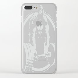 Gorilla Lifting Exercise Fitness Gym Tee Beast Mode Clear iPhone Case