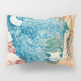 Blue Bison Pillow Sham