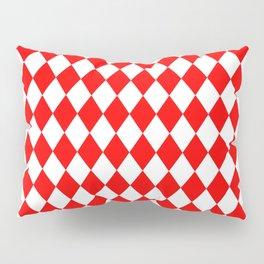 Diamonds (Red/White) Pillow Sham