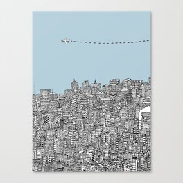 Leaving the City Canvas Print