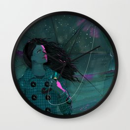 BLUE BLUE SEA Wall Clock