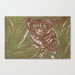 Green Tarsier Canvas Print