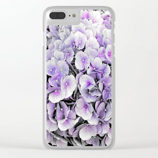 Flower | Flowers | BNW Purple Hydrangea Clear iPhone Case