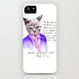 Fashion Mr. Cat Karl Lagerfeld and Chanel iPhone Case