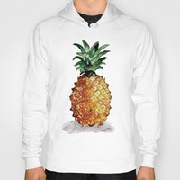 pineapple Hoodies featuring Pineapple by Bridget Davidson