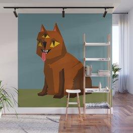 Three eyed cat creature Wall Mural