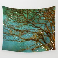 fireflies Wall Tapestries featuring Magical by The Last Sparrow