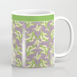 Vintage-style Lily-of-the-Valley on Mauve Coffee Mug