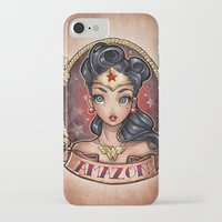 pinup iPhone & iPod Cases featuring Amazon Pinup by Tim Shumate