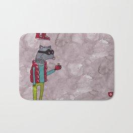 006_raccoon Bath Mat