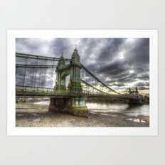 Hammersmith Bridge London Art Print