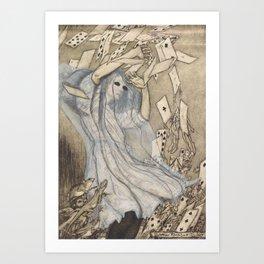 """Alice in Wonderland Ghost"" / Arthur Rackham Art Print"