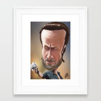 rick grimes Framed Art Prints featuring Rick Grimes by Carrillo Art Studio