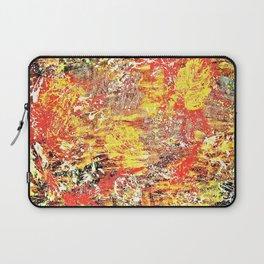 Golden Autumn Abstract Laptop Sleeve