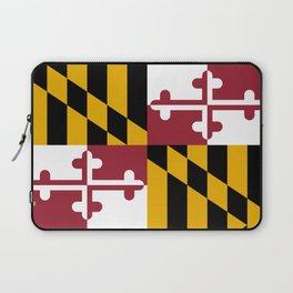 Maryland State Flag, Hi Def image Laptop Sleeve