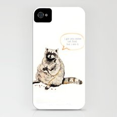 Raccoons Are Poor Gifters Slim Case iPhone (4, 4s)