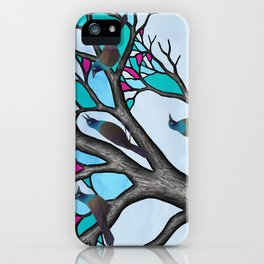 grackles in the stained glass tree iPhone Case