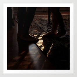 Feet in Shadow Art Print