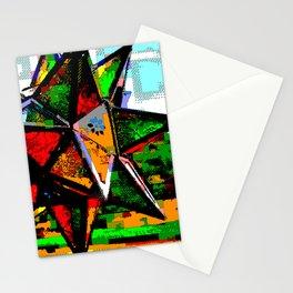 Glass Star & Vineyard Retro CGI Pixelart Stationery Cards