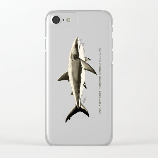 Carcharodon carcharias II ~ Great White Shark Clear iPhone Case