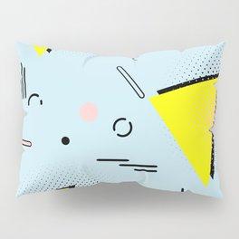Memphis blue design Pillow Sham