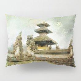 Balinese temple beside lake Pillow Sham