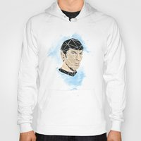 spock Hoodies featuring Spock by Josh Ln