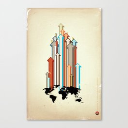"Glue Network Print Series ""Economic Development"" Canvas Print"