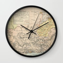 Vintage South Africa Resource Map (1889) Wall Clock