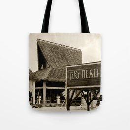 Travel Photography : Tiki Beach in Cayman Islands Tote Bag