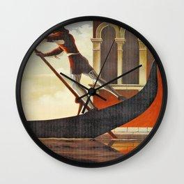 Venice history, gondola Wall Clock