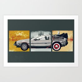 DeLorean DMC-12 - Cinema Classics Art Print