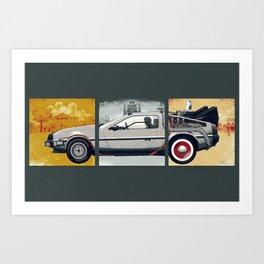 DeLorean DMC-12 - Cinema Classics Art Print