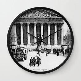 Vintage antique Paris Rue Royale Madeleine church Wall Clock