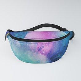 Universe Watercolor - Blueish Nebula Fanny Pack