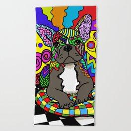 Dog 144 Bulldog Beach Towel