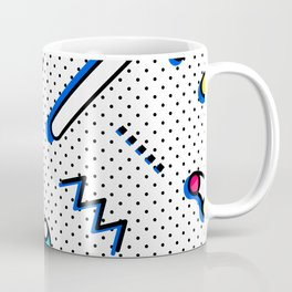 Bright Background in Neo Memphis Style Coffee Mug