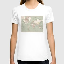 Vintage Map of The World (1915) T-shirt