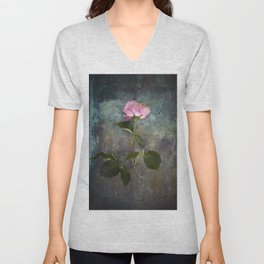Single Wilted Rose Unisex V-Neck