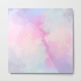 Rainbow Watercolor Cloud Metal Print