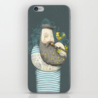 wesley bird iPhone & iPod Skins featuring Bird by Seaside Spirit