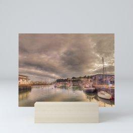 Porthmadog Harbour at Dusk Mini Art Print