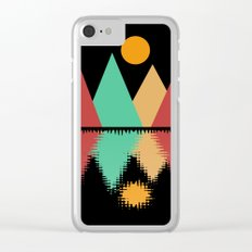 Moon Over Four Peaks Clear iPhone Case