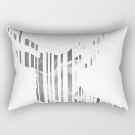 Geometric black Stag Rectangular Pillow