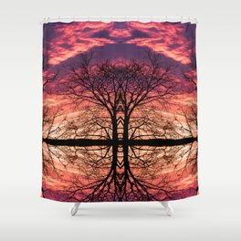 After The Last Leave Falls Shower Curtain