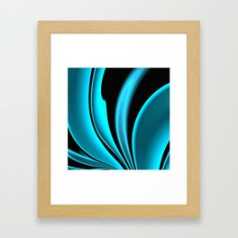 Abstract Fractal Colorways 02 Pacific Blue Framed Art Print