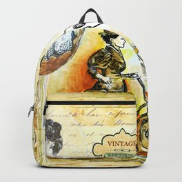 """""""Bicycles & Tricycles"""" - by fanitsa Petrou Backpack"""