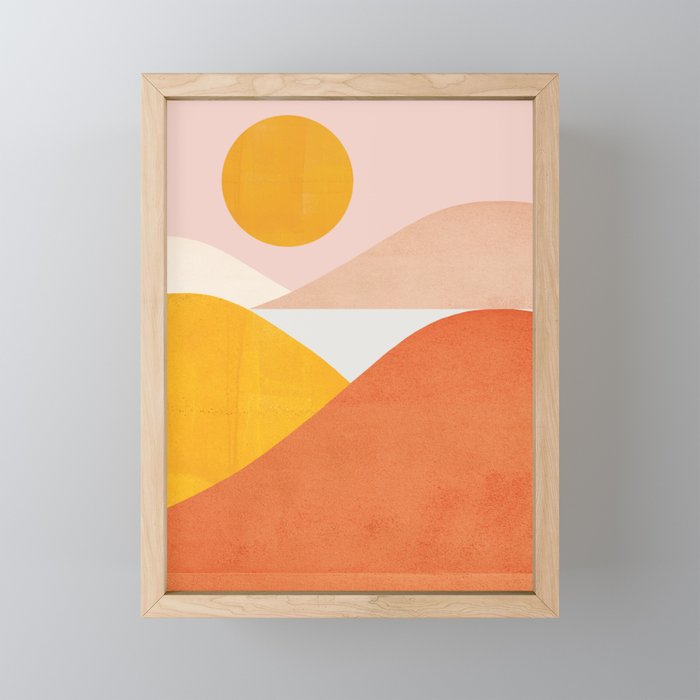 Abstraction_Mountains Framed Mini Art Print