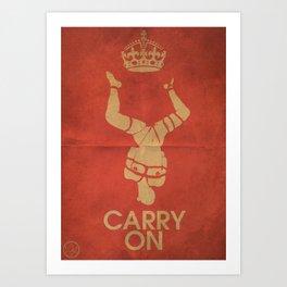 Keep Calm & Carry On BDSM Art Print